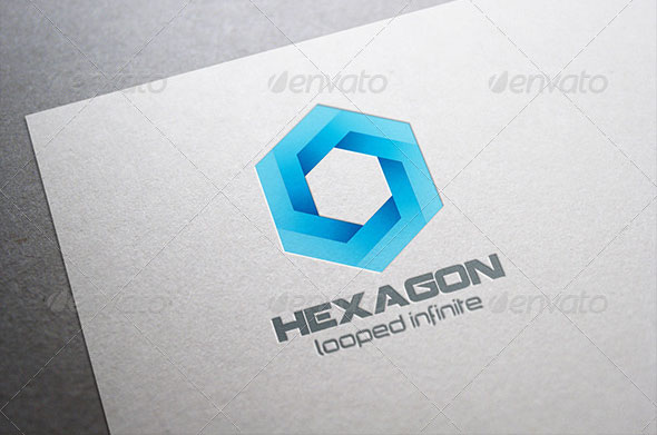 Hexagon Infinite Looped Logo