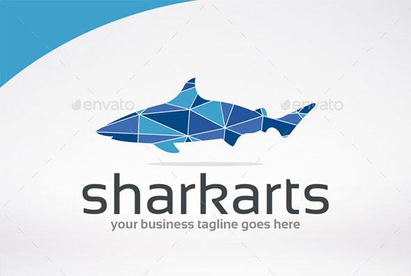 Poly Shark Logo Template
