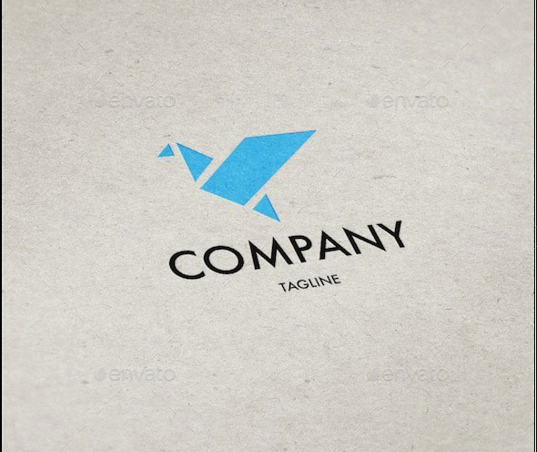 Origami Bird Logo Template