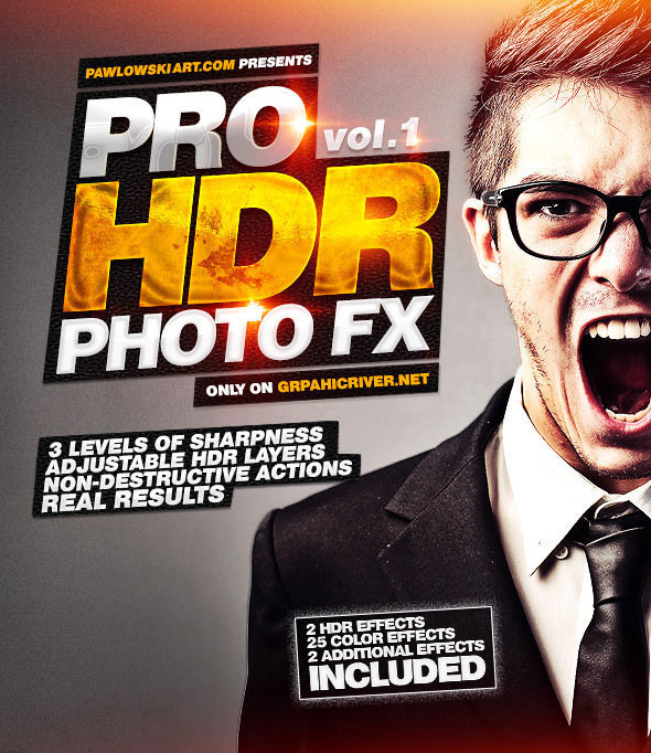 Pro HDR Photo FX vol.1 - 25 HDR Photoshop Actions
