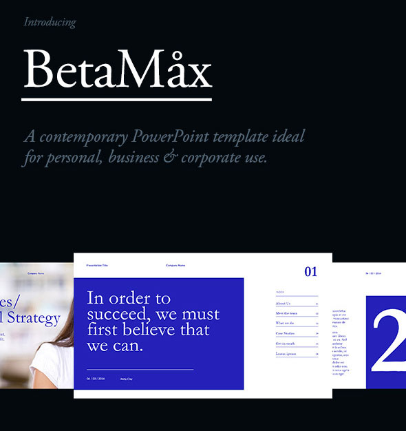 BetaMax PowerPoint Template