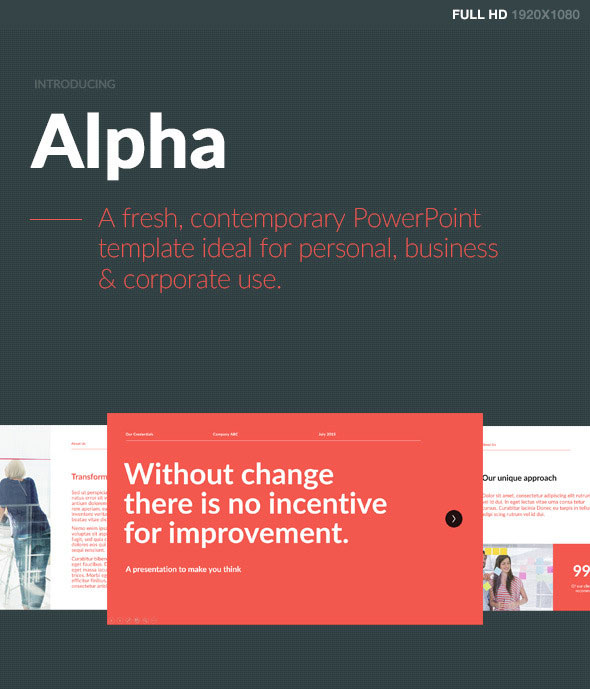 Alpha PowerPoint Template