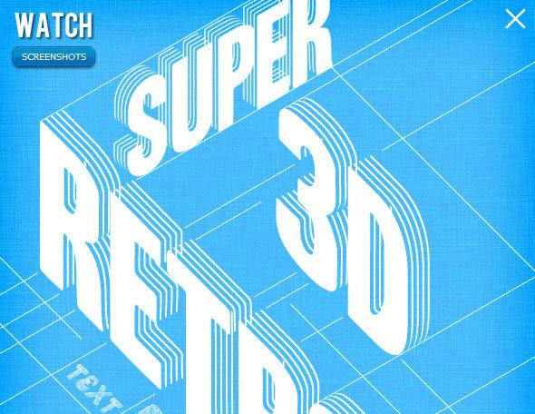 Retro 3D lines
