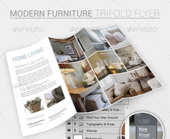 Furniture Trifold Flyer Template
