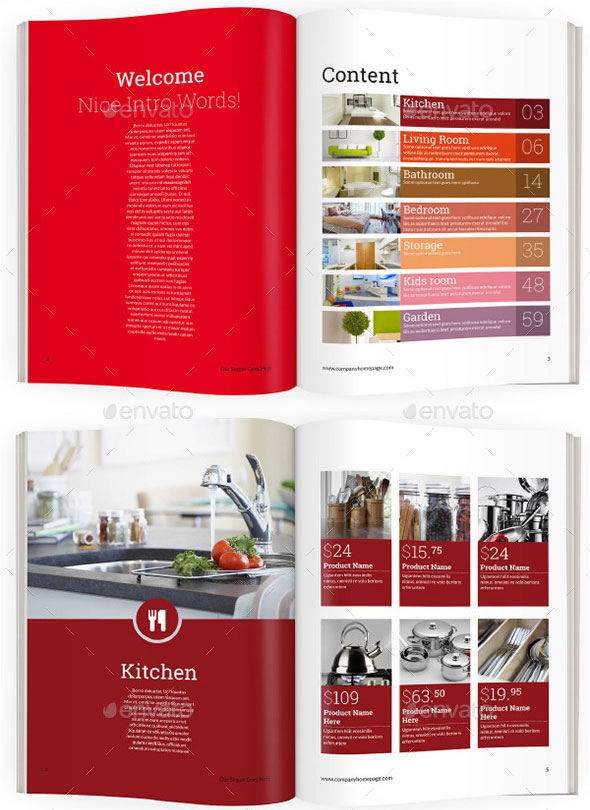 Flat Product Catalog Brochure