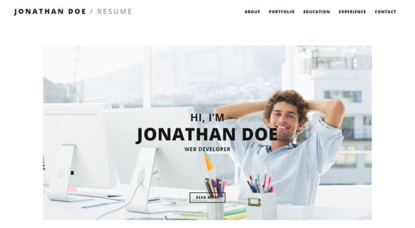 Responsive Resume / CV WordPress Theme