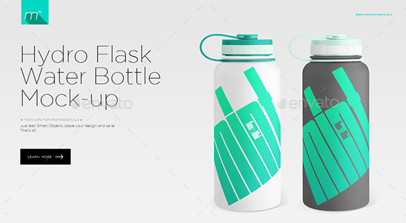 Hydro Flask Water Bottle Mock-up