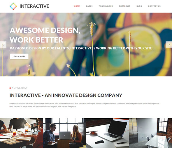 Interactive - Elegant & Creative WordPress Theme