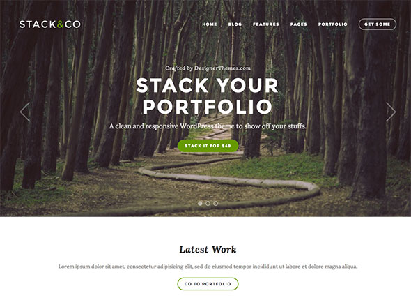 Stack – Responsive WordPress Portfolio & Photography Theme