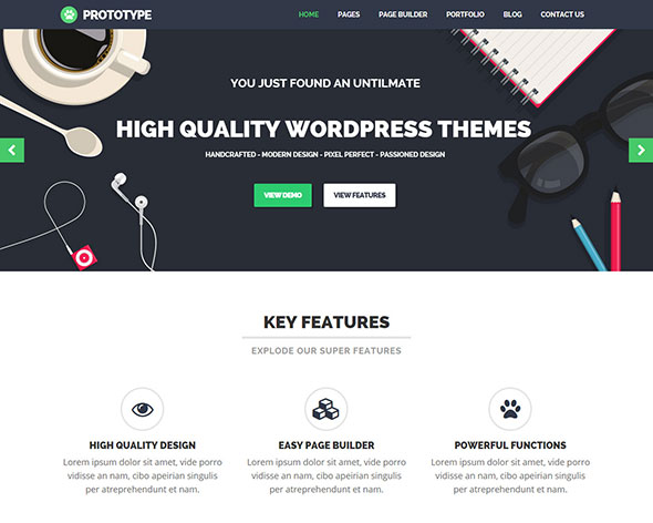Prototype - Flat WordPress Theme