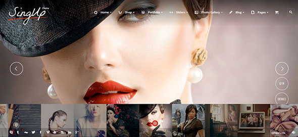 SignUp - Portfolio Photography Theme