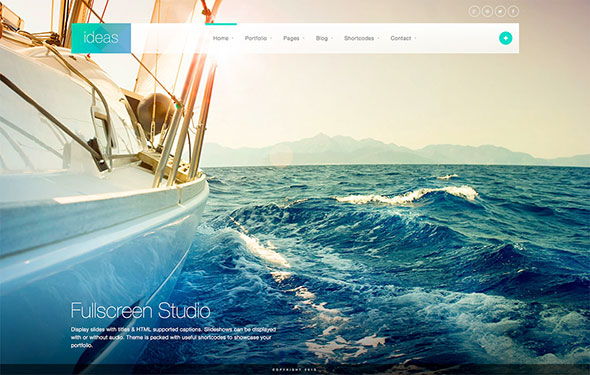 Ideas - Fullscreen Responsive WordPress Theme