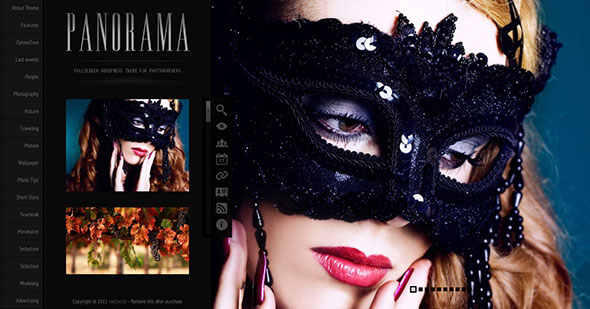 Panorama Fullscreen Photography WordPress Theme