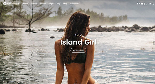 Terschelling - Modern Photography WordPress Theme