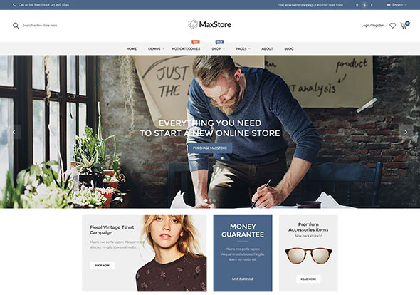 MaxStore - Creative, Minimalist WordPress Theme