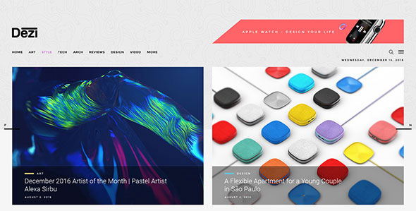 Dezi - Blog & Magazine WordPress Theme