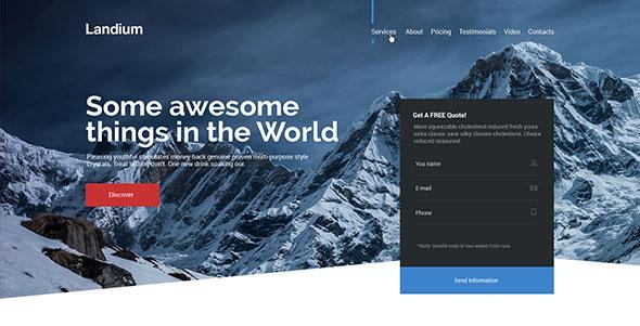 Landium - App & Landing Page WordPress Theme Pack