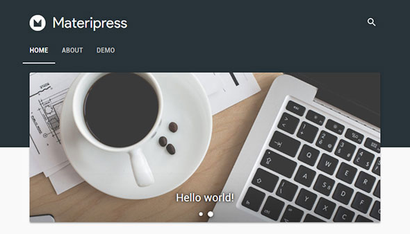 Materipress - Material Design WordPress Theme