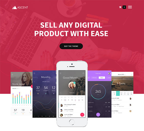 Ascent - WordPress / Easy Digital Downloads Theme