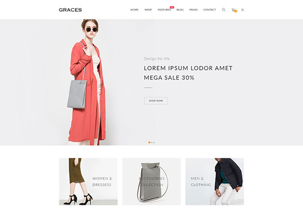 Graces - Fashion/Homeware WooCommerce WordPress Theme
