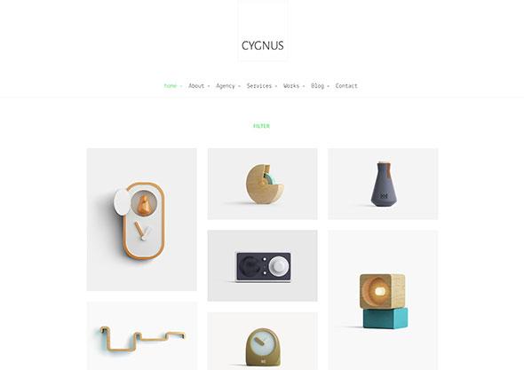 Cygnus - Clean and minimalistic portfolio theme