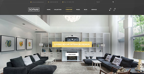Sofani - Furniture Store WooCommerce WordPress Theme