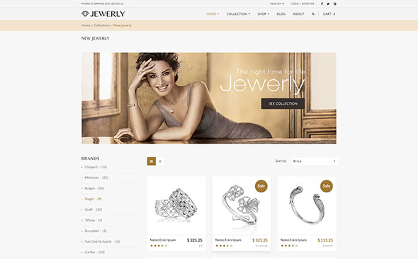 Jewelry - Responsive WordPress Theme