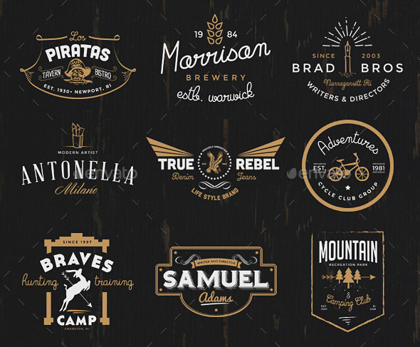 The Vintage Logo & Badge Collection