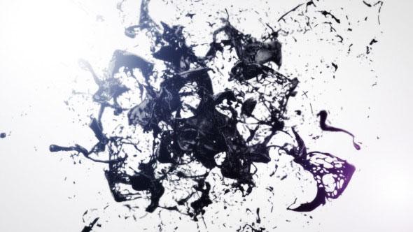 Black Liquid Logo Reveal