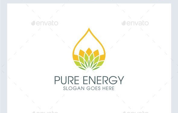 Pure - Eco Energy Logo Template