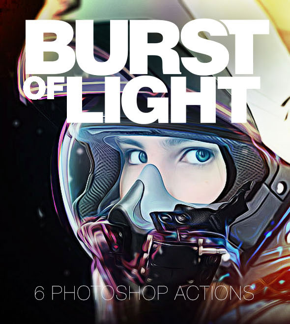 Burst of Light Photoshop Actions - Photorealistic Glow Effects