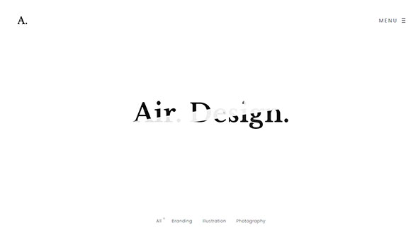 Air. Lightweight Portfolio HTML Theme