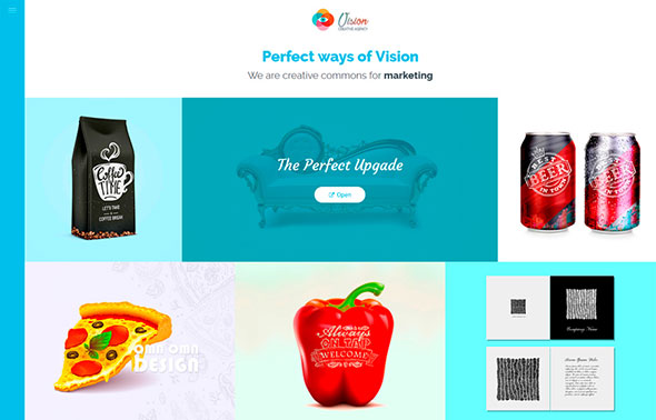 Vision - Creative Portfolio Website Template for Freelancers, Artists and Agencies + Online Store