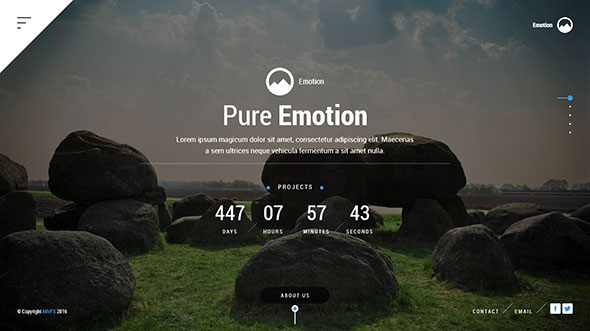 Emotion - Creative design and responsive portfolio template