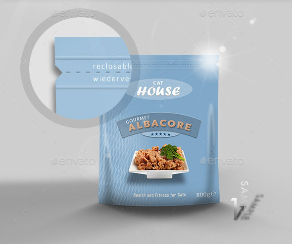 Foodbag Plastic Pouch Packaging Mock-Up