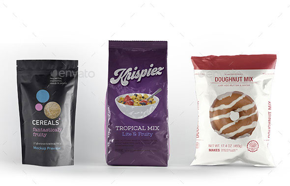 Pouch Packaging Mockup Bundle