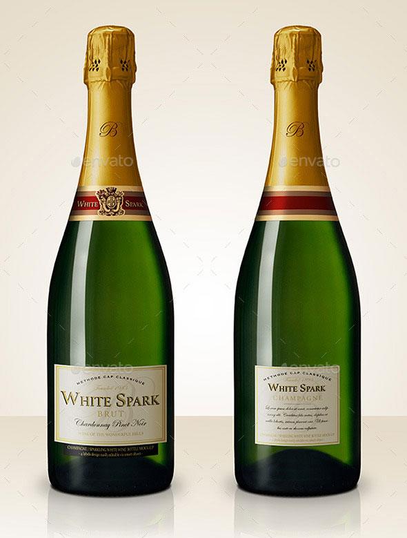 Premium Champagne Bottle Mockup