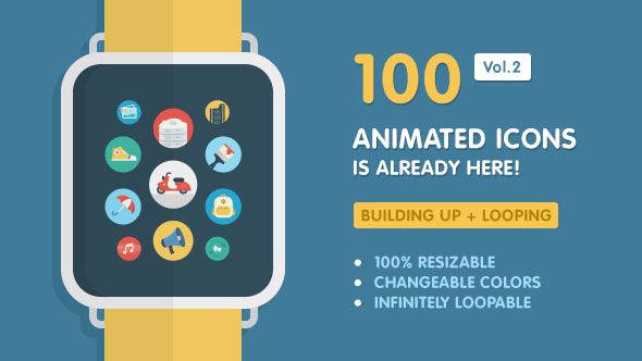 Ballicons Vol.2 — 100 Animated Icons