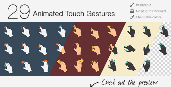 29 Animated Touch Gestures