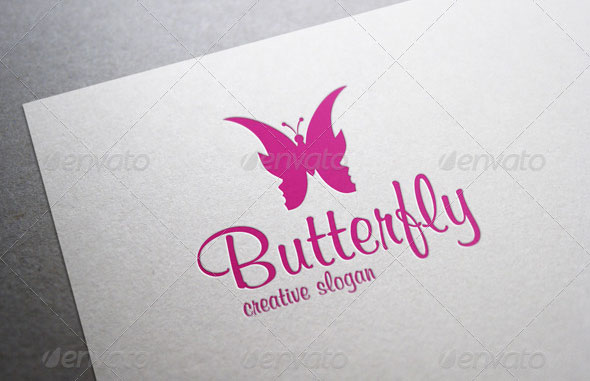 Women Butterfly - Wellness & Spa Logo