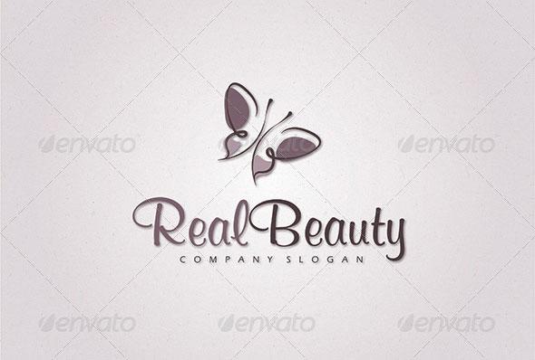 Organic Butterfly Logo Template