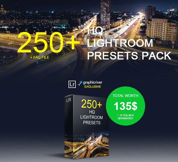 250+ HQ Lightroom Presets Pack