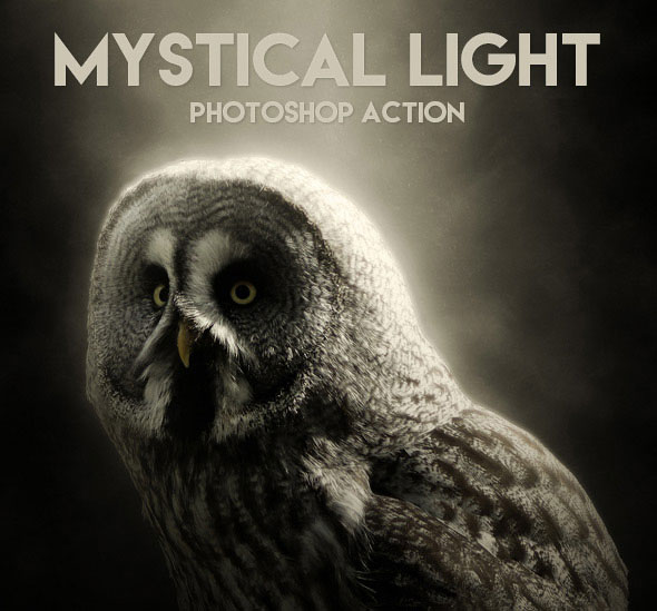 Mystical Light Photoshop Action