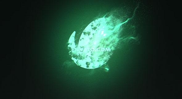 Particle Logo Dissolve