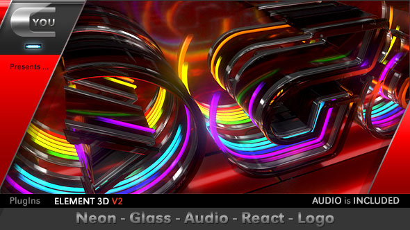 Neon Glass Audio React Logo