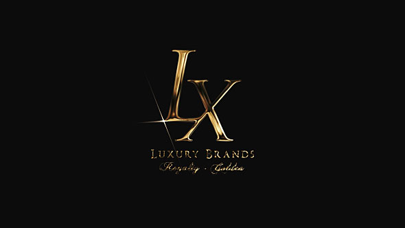 Golden Luxury Logo Reveal