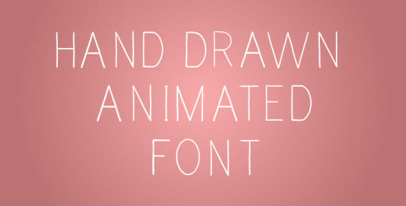 Hand Drawn Animated Font