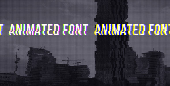 Animated Font With Glitch Effect