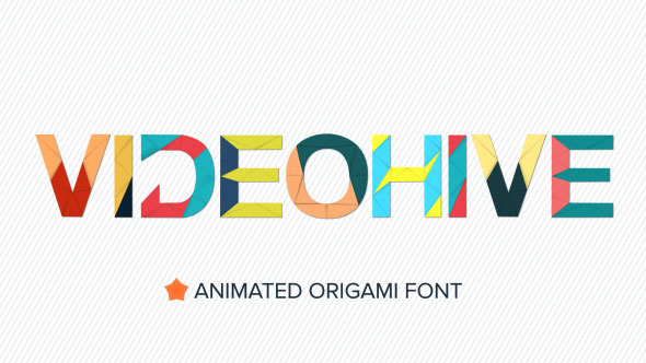 Animated Folding Origami Font