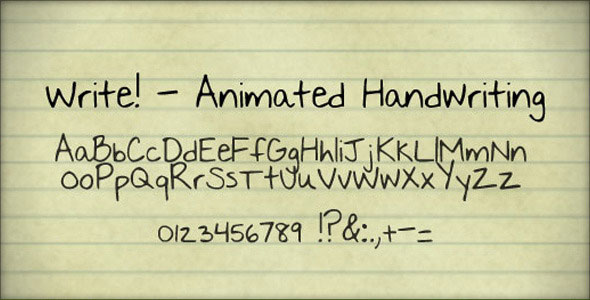 Write! - Animated handwriting